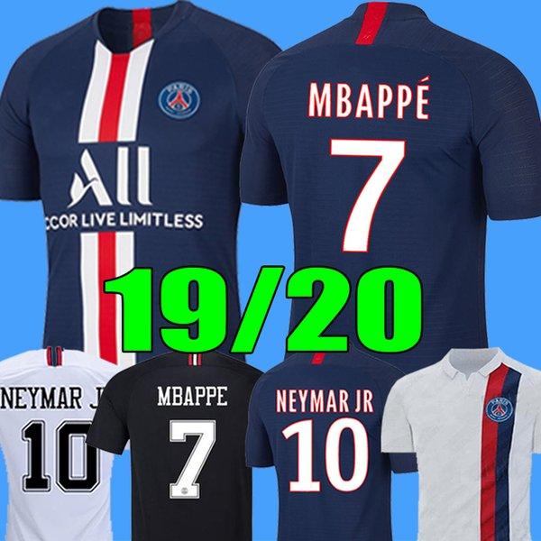 2019 2020 PSG Jersey maglia Mbappe calcio Verratti all'inizio Thailand 19 20 Parigi maglia di calcio KIMPEMBE Camiseta de futbol