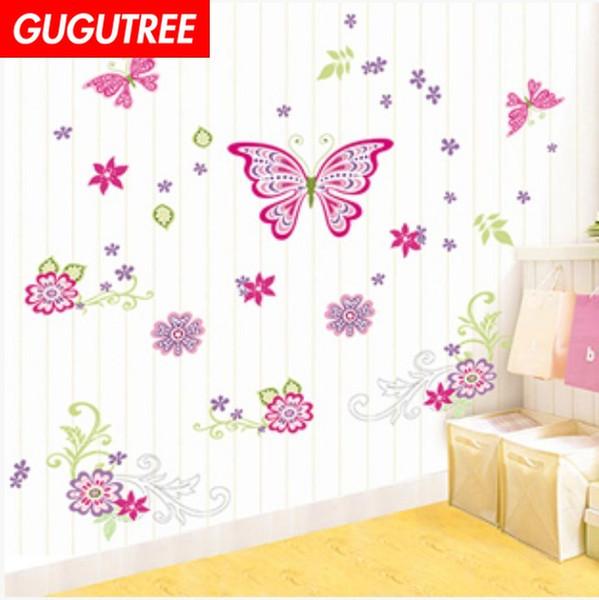 Decorare la casa buttlefly cartoon guerre art wall sticker decalcomanie decorazione murale pittura Wallpaper rimovibile G-2238
