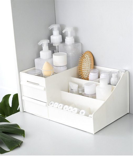 Large Capacity Cosmetic Storage Box Drawer Makeup Organizer Dressing Table Skin Care Rack House Container Mobile Phone Sundries