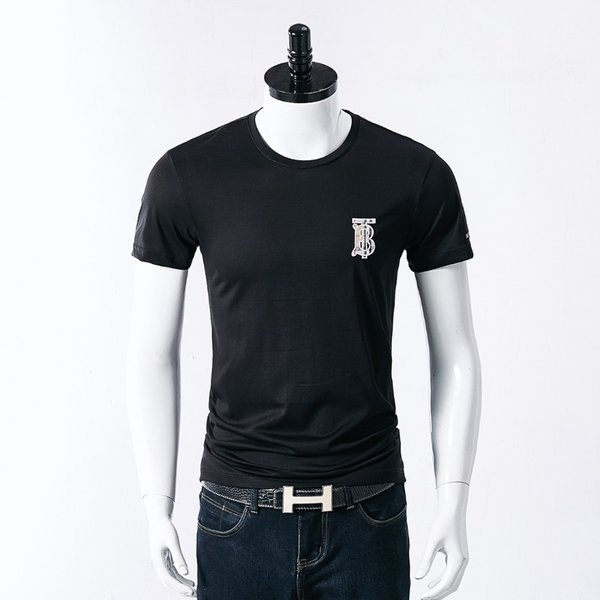 Summer Fashion Tied Pure Cotton Short Sleeve T designer luxury T-shirt Man Slim Korean Edition Men's Wear Youth