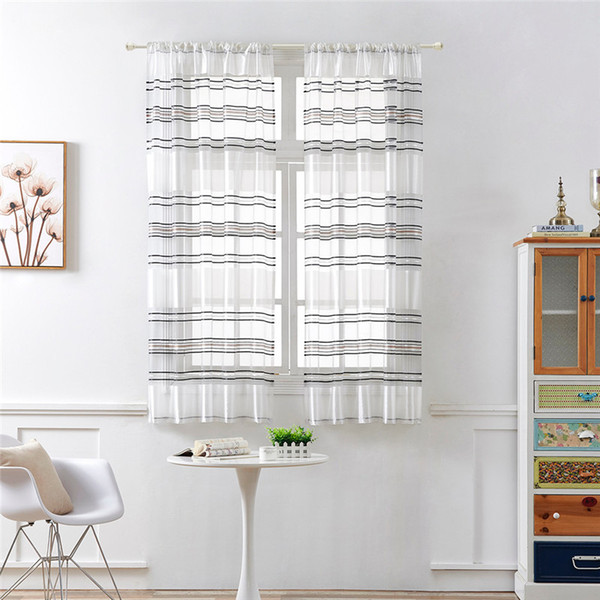Curtains Fashion Curtains Forliving Room Leaves Sheer Curtain Tulle Window Treatment Voile Drape Valance 1 Panel Fabric @D