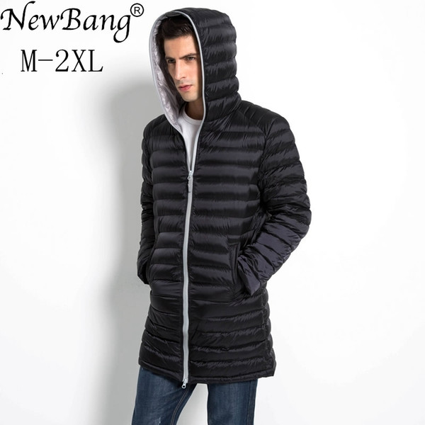 NewBang Brand Long Duck Down Jacket Men Spring Autumn Hooded Waterproof Mens Down Warm Lightweigt Winter Coat Puffer Jacket SH190927