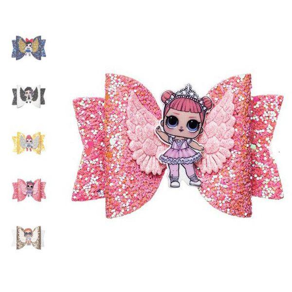 New hair bows angel's wings girls hair clips glisten princess Barrettes kids BB Clip Boutique Girl Hairclips designer hair accessories A4888