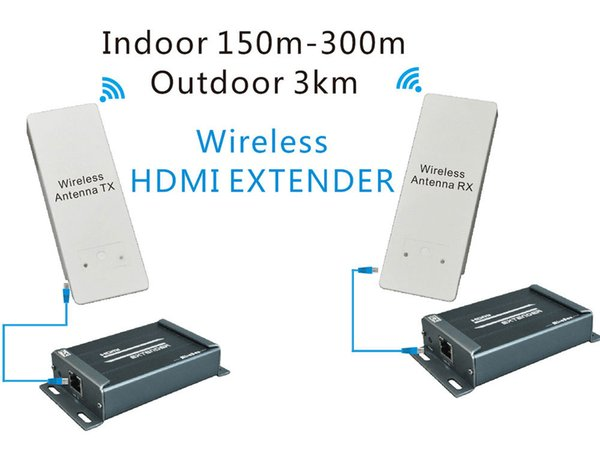 Freeshipping 1080P 5.8 GHZ extender wireless con estrattore audio compatibile con HDCP può estender 150 ~ 300m indoor