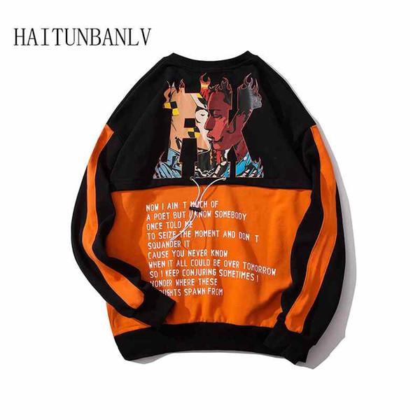 New Men Letter Harajuku Hoodies Sweatshirts 2019 Men Women Streetwear Black Hoodie Male Hip hop Winter Basic Hoodies
