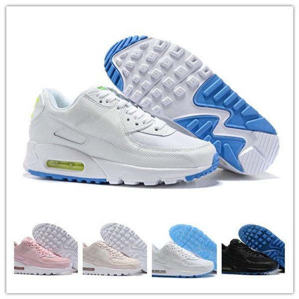 Compre Nike Air Max El Más Nuevo Diseñador Hombre Mujer 90 Zapatillas Blanco Rosa Negro Clásico 90 S Femme Sports Trainer Superficie De Cojín