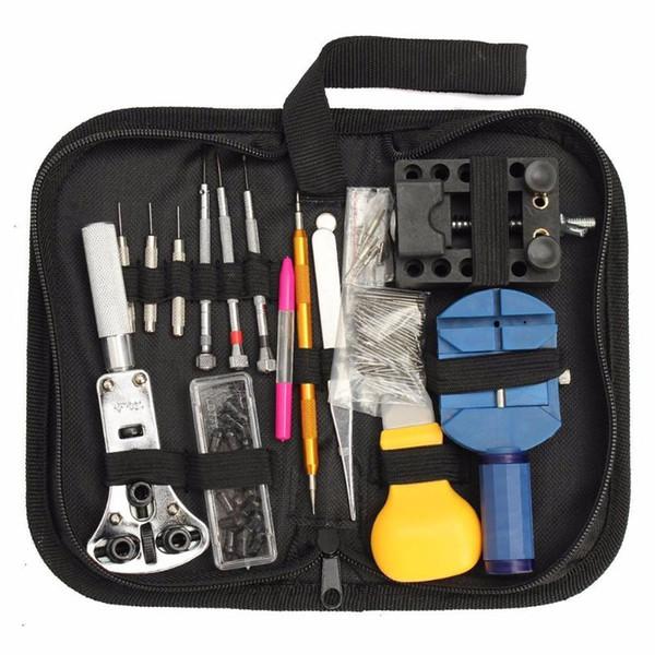 144Pcs Watch Tools Kit Watch Opener Remover Spring Bar Repair Pry Screwdriver Clock Repair Tool Kit Watchmaker Tools Set