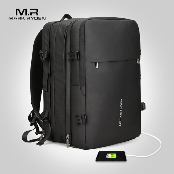 Mark Ryden Business Backpack Man Backpack Fit 17 inch Laptop USB Charging Multi-layer Space Travel Male Bag Anti-Theft