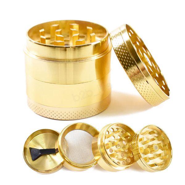 Nouveau modèle Meuleuse en métal avec 4 couches de pièces d'or Modèle Accessoire à fumer de 40 mm Meuleuse à fumée manuelle LJJA2991