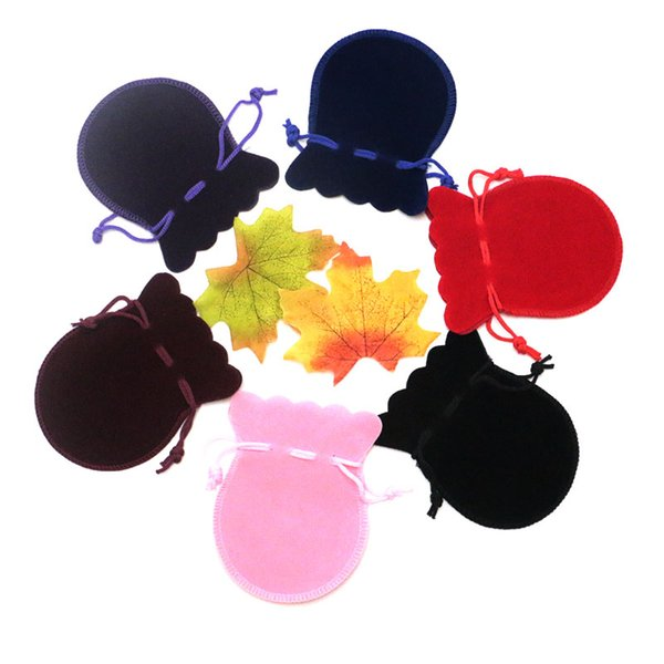 velvet bags jewellery pouches 50pcs/lot 8*10cm small drawstring bags for jewelry necklace earrings rings packaging display