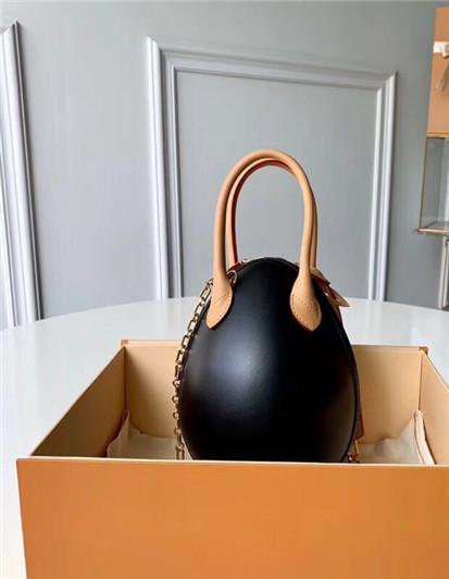 Fashion New Women handbags Top Grade Lady Brown Mono Genuine oxidation Leather Handbag Women M44587 Dinosaur egg Tote Lipstick bag