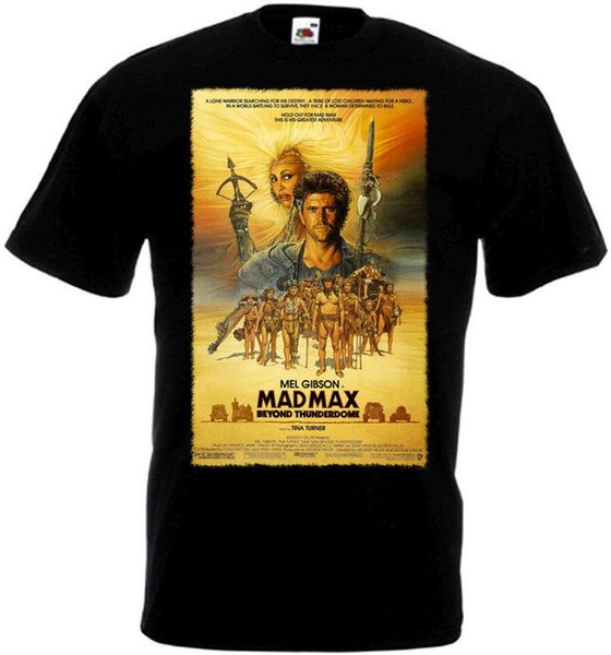 T-shirt MAD MAX 3 Movie Poster Nero tutte le taglie T-shirt Fashion Donna Unisex Fashion Spedizione gratuita nero
