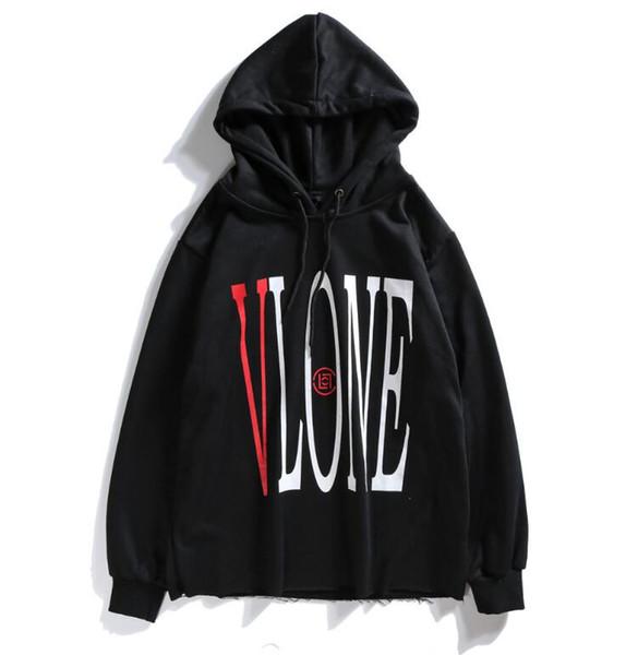 2019 Diseñadores de moda sudaderas con capucha Hombre Mujer sudadera con capucha Pareja suelta sudadera con capucha de manga larga Gran V sudadera con capucha suéter