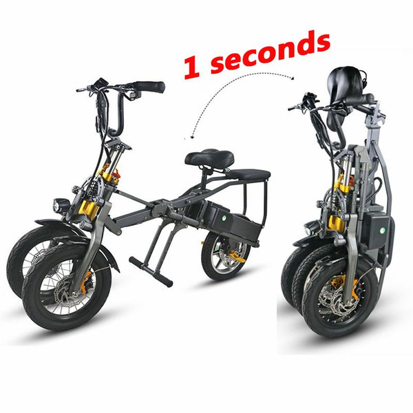 best selling Electric Scooters Adults 3 Wheels Electric Bicycles With 2 PCS Battery 350W Fast Folding Powerful Electric Bike