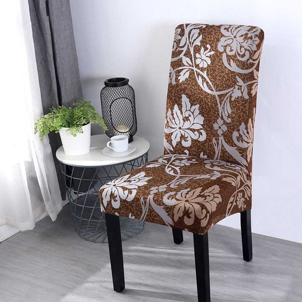 Print Flower Universal size Chair Cover stretch seat chair covers for Wedding Banquet Restaurant Hotel Dining home decoration