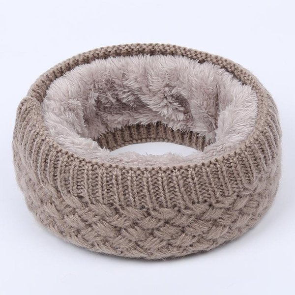 Hot Women Men Fashion Female Winter Warm Scarf Solid Chunky Cable Knit Wool Snood Infinity Neck Warmer Cowl Collar Circle Scarf