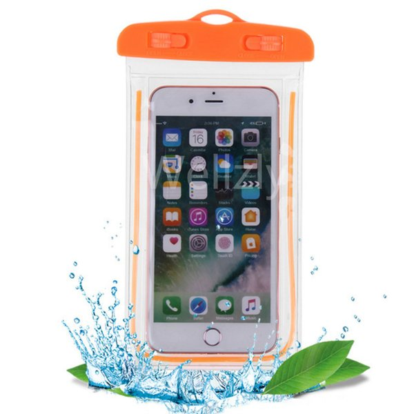 Swimming Bags Xiaomi Waterproof Bag With Sealed Luminous Underwater Pouch Phone Case For Iphone X 8 Plus 7 7p 3.5-6inch C19041301