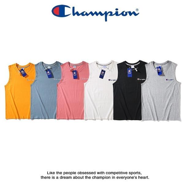 Camiseta sin mangas de mujer Exquisito bordado pequeño en el pecho Cuello redondo Estilo casual Algodón sin mangas T-shirt