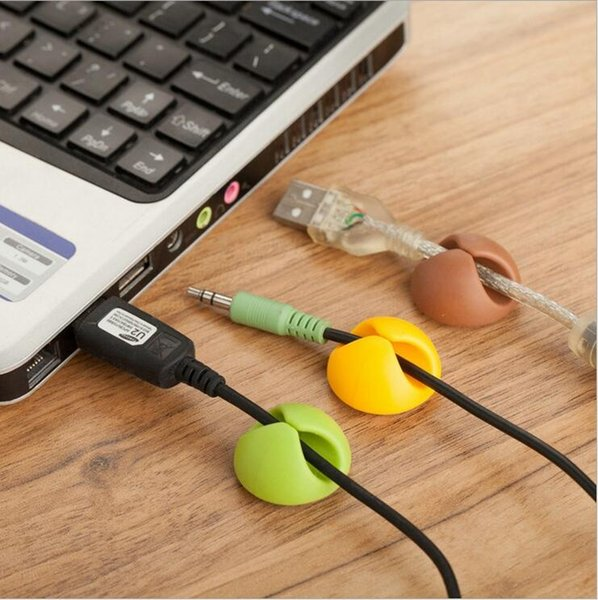 Attractive Cable Clip Desk Tidy Wire Drop Lead USB Charger Cord Holder Organizer Holder Line AccessoriesUniversal desktop cable clamp wire U