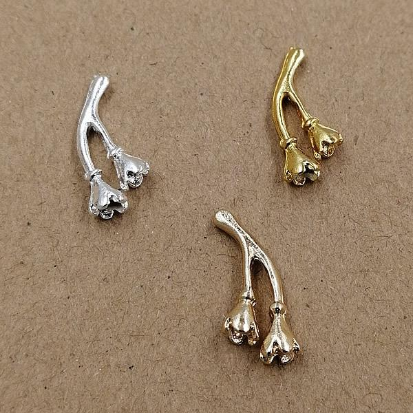100pcs 9.5*21mm Fashion Gold Silver tree branch charms pendants Alloy DIY Jewelry Accessories Headwear Hair Jewelry Handicraft Material