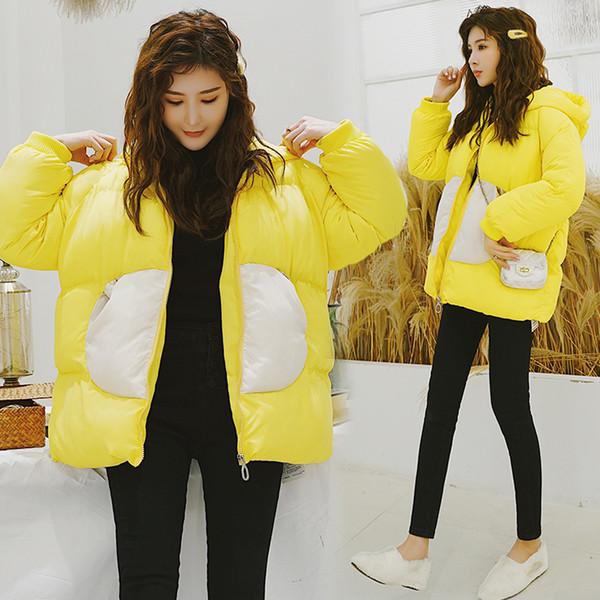 2019 primavera pão solto das mulheres vai se mover pequenas asas de algodão acolchoado casaco jaqueta moda feminina outerwears jaquetas casacos