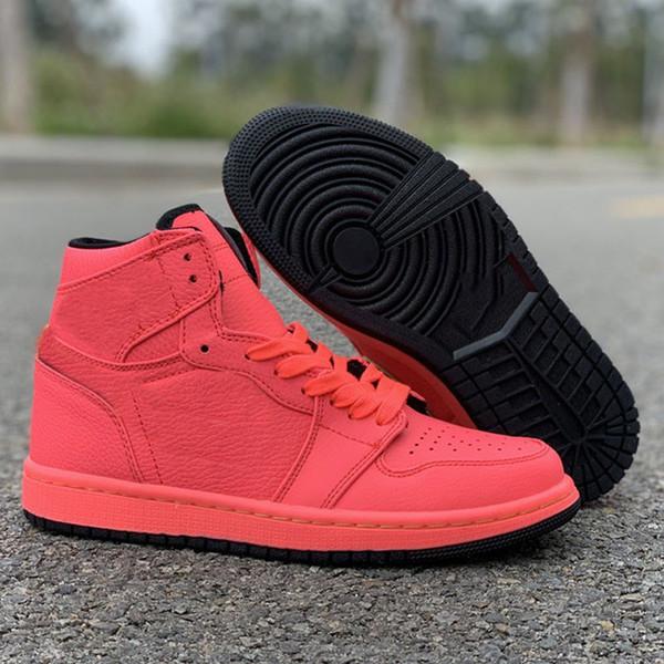 2019 Nuevo Top de Alta Calidad 1s Hot Punch Red Basketball Shoes Hombres Mujeres Top fábrica Deportes Zapatilla de deporte