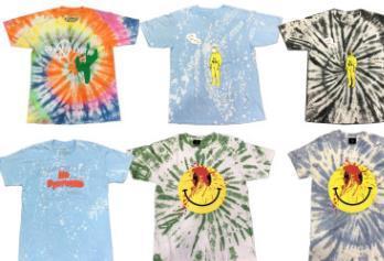 Playboi Carti Die Lit Tour Tshirts Mens Tie-окрашенных 1 футболки Летняя мода тур Vegas рубашка ДУВР Star Tee