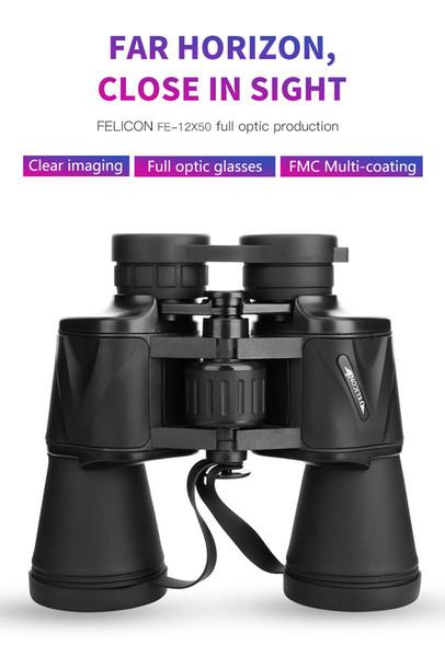 Zoom Télescope Jumelles Pliantes Haute Définition avec vision nocturne faible en lumière pour l'observation des oiseaux en plein air, voyage, chasse camping 1000m