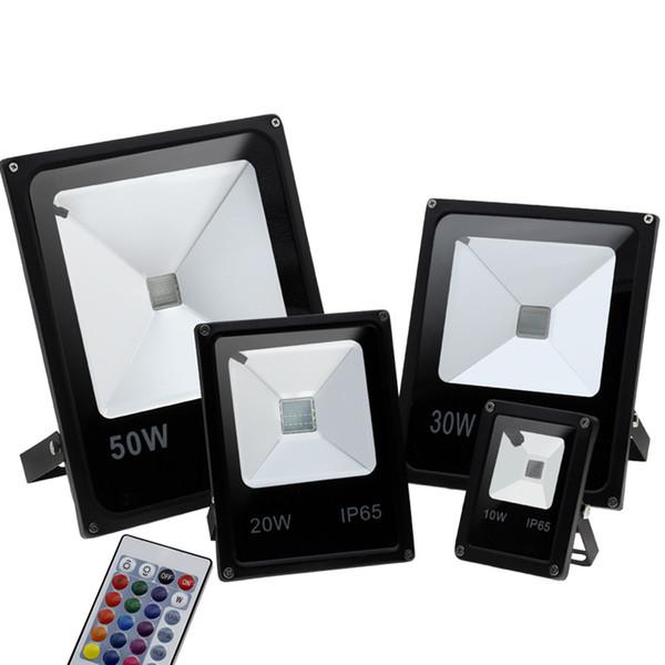 Открытый прожектор 10 Вт 20 Вт 30 ВТ 50 Вт 100 Вт RGB светодиодные фонари IP65 водонепроницаемый светодиодный прожектор открытый настенный светильник AC 85-265 в