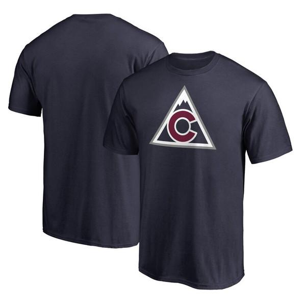 Nathan MacKinnon Colorado-Lawinen-T-Shirt der Männer Mikko Rantanen Gabriel Landeskog Semyon Varlamov individueller Name und Zahlent-stück