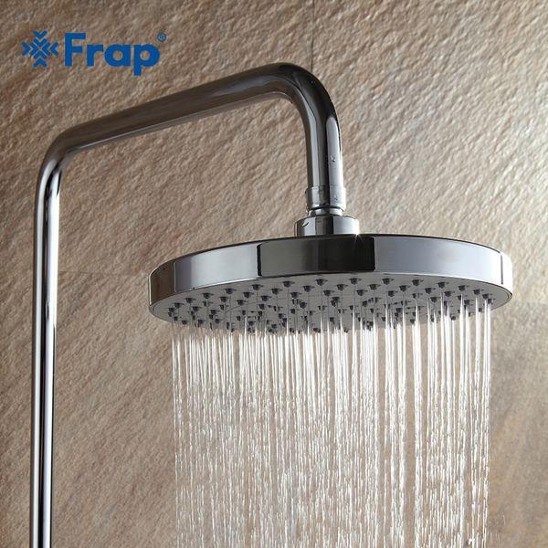 wholesale Round 20*20cm Stainless Steel +ABS bathroom Shower heads 8 inch Rainfall Shower Head Rain Shower Chrome Finish F11-2