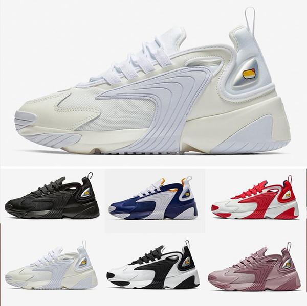 Uomo Zoom 2K Scarpe da corsa stile di vita Bianco Nero Blu ZM 2000 stile anni '90 Allenatore Designer Sneakers all'aperto M2K Sneakers comode 36-45