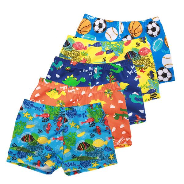 best selling New Summer Children Pants Boys Swimming Trunks Cartoon Printing Boxers Swim Shorts Pants Swimwear Kids Trousers Boys Shorts