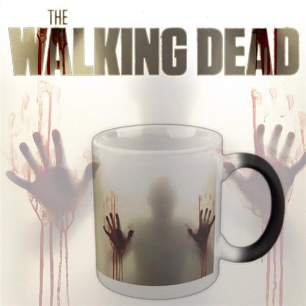 Originalmente diseñado para Halloween Regalo de cumpleaños Retro Zombie Chameleon Cup Divertido regalo creativo tazas Tazas terroríficas 4975