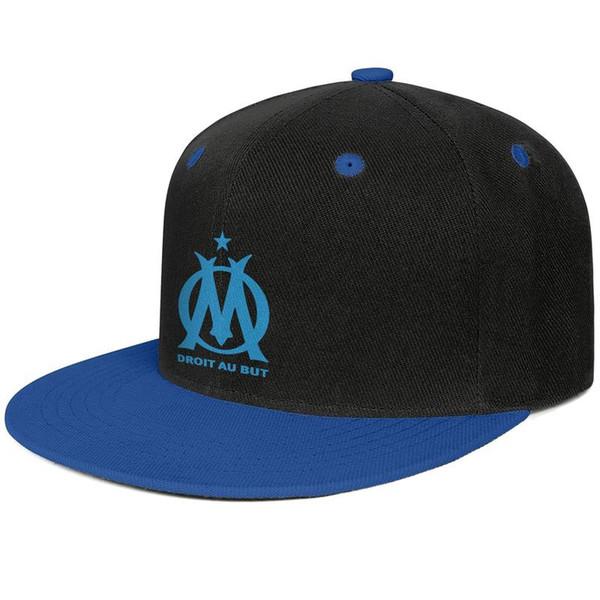 Olympique de Marseille Les Olympiens OM Classic Blue Blue mens and women trucker flat brim cap cool fitted custom sports vintage team uniqu
