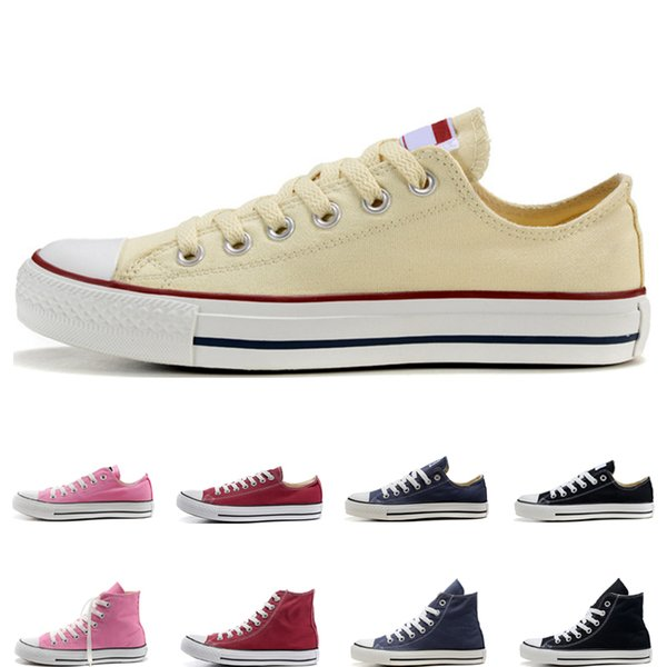 2019 hot fashion casual Shoes men women shoes black white red beige pink navy blue high low high quality athletic size 36-44