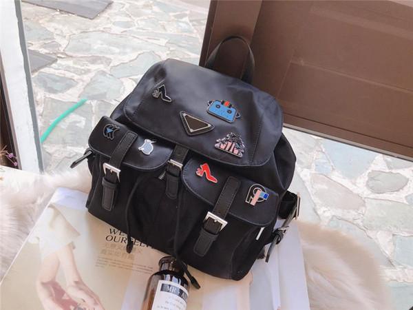P designer backpack luxury brand backpacks famous fashion high quality Nylon school bagpack big capacity 2019