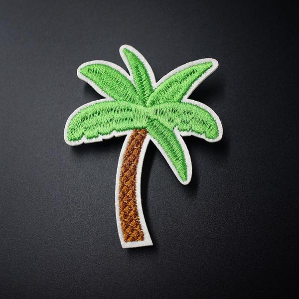 Coco Palmera Bordado Parches para la ropa Hierro de costura en el verano Tropical Parche Aplique Para Chaqueta Jeans Zapatos Mochila Insignias