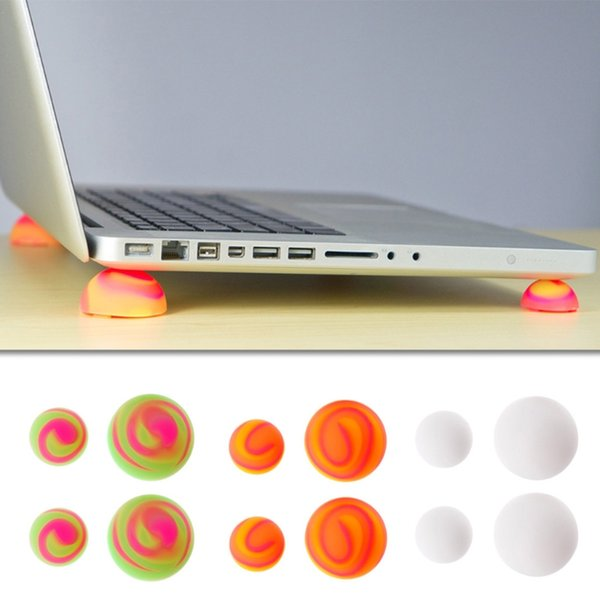 Multicolor Laptop Cooling Stand Cooler Ball Feet Antiskid Leg Skidproof Pads Notebook Accessories