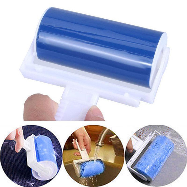 Washable Lint Roller Sticky Dust Wiper Tools Cute Color Cleaner Sticky Picker Pet Hair Fluff Remover Reusable Brush MMA1214