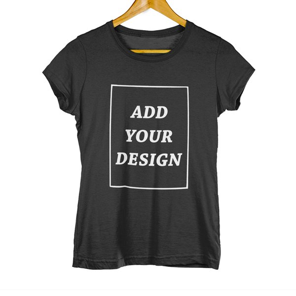 EU Size Custom T Shirt Female Add Your Own Design Print The Text Picture High Quality 100% Cotton