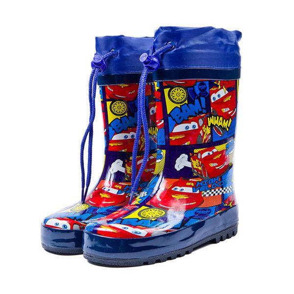 Botas de lluvia de moda para niños botas de lluvia de estudiante de goma natural para niños