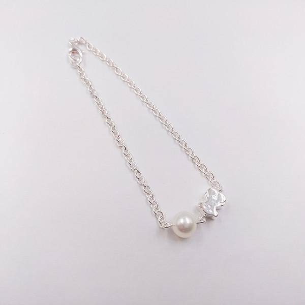 Authentic 925 Sterling Silver bracelets Silver Sweet Dolls Bracelet Fits European bear bear Jewelry Style Gift 215911500