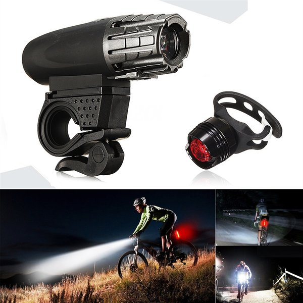 Bike Bicycle Cycling Head Front Rear Lights MTB Tail Lamp Set USB Rechargeable