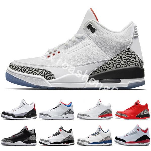 Fashional Erkekler Yüksek Kalite 3 III 3 s basketbol ayakkabıları mens Nefes Açık Spor Konfor Ayakkabı Retro Sneakers boyut 7-13