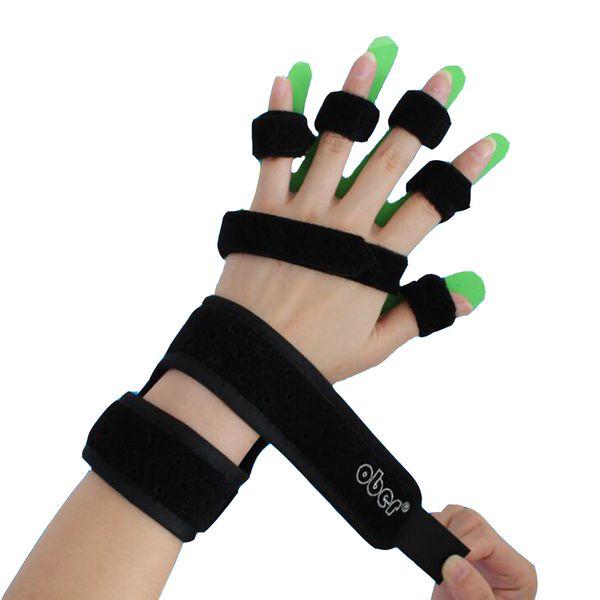 Adults Kids Hand Wrist Orthosis Separate Finger Flex Spasm Extension Board Splint Apoplexy Hemiplegia Right Left Men Women