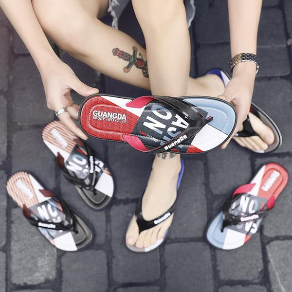 new designers Sandal Slippers blue Red black Stripe Fashion Design Men Women Classic Ladies Summer Outdoor beach Flip Flops