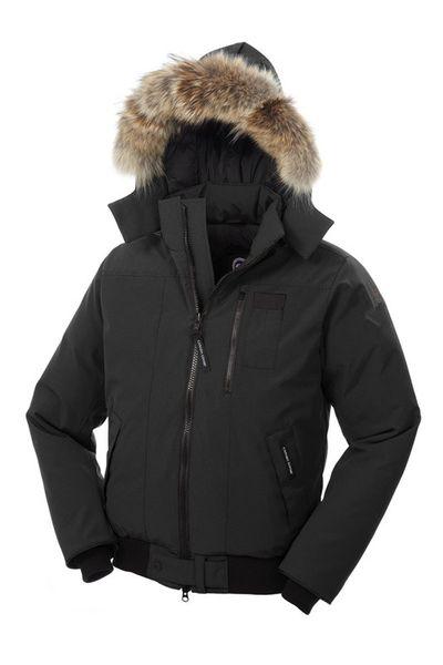 2019 Invierno Fourrure Down Parka Homme Jassen Daunejacke Prendas de abrigo Big Fur Hooded Fourrure Manteau Abrigo de abrigo de Canadá Abajo Goo Hiver Doudoune