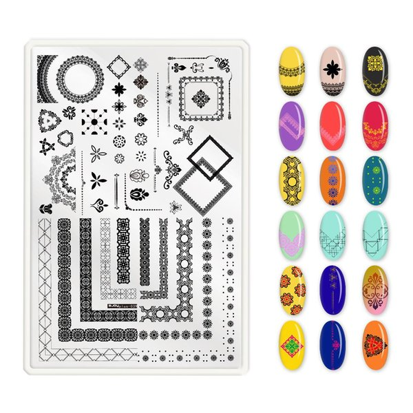 Newest Fashion Nail Art Stamping Plate ZJOY plus Nail Printing Manicure Tool Charms Fingernail tips Reusable Plate Steel