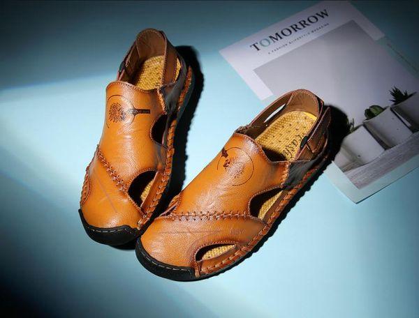 Sommer neue Männer Sandalen Trend Baotou koreanische Version des Strandes coole Schuhe Persönlichkeit Retro Sommerschuhe Teenager